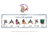 I can wash my hands visual support