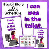I can wee / urinate in the toilet - Social Story and Schedule for Girls
