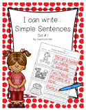 I can write... Simple Sentences Set #1