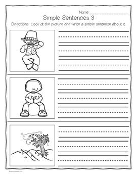 I can write... Simple Sentences Set #2