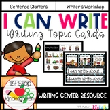 Writing Ideas for Kindergarten- Writing Topic Cards
