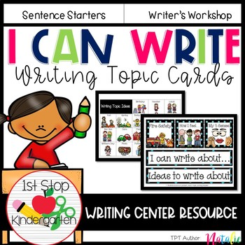 I can write: Writing Topic Cards
