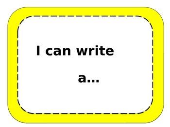 I can write a ....