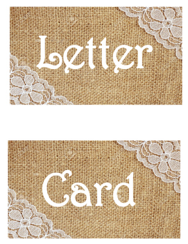 I can write a... Burlap and Lace