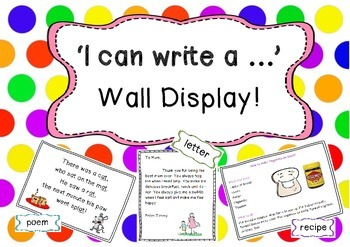 I can write a .... Wall Display!