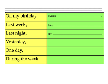 I can write a good beginning sentence - Color Coded