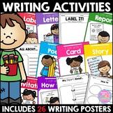 Writing Center Activities Menu
