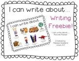I can write about... Poster FREEBIE!!!