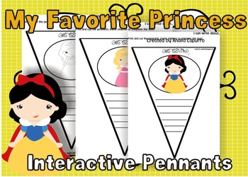 My Favorite Princess Interactive Pennants