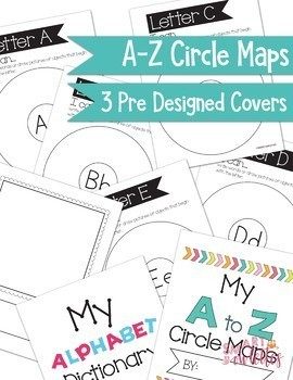 I can write and draw A-Z - Circle Map Activity - Pre-K TK Kinder