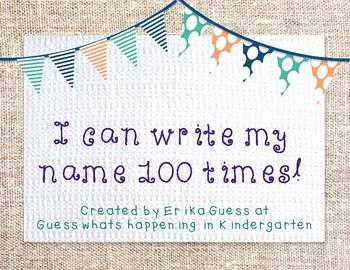I can write my name 100 times!