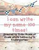 I can write my name 100 times! 2nd version