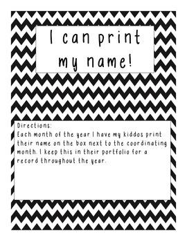 I can write my name portfolio record