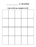 I can write my numbers to 20!