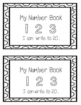 I can write numbers 0-20 book (K.CC.A.3)