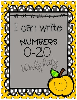 I can write numbers 0-20 worksheets (K.CC.A.3)