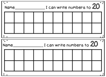I can write numbers to 5, 10, 20, 30, 40, 50, 60, 70, 80, 90, 100
