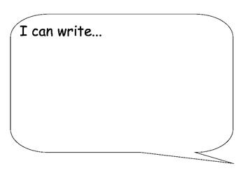 I can write- speech bubble