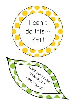 I can't do this... YET! Growth Mindset