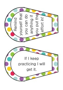 I can't do this... YET! Growth Mindset Editable