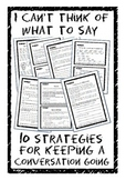 I can't think of what to say! 10 strategies for keeping a conversation going