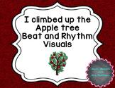 I climbed up the apple tree