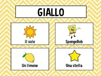 I colori -Teaching colors in italian