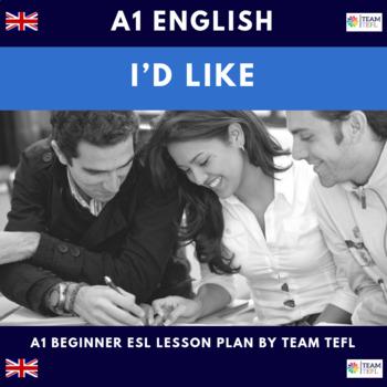 I'd Like A1 Beginner Lesson Plan For ESL