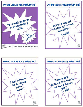 What would you rather do? 75 conversation prompts + Powerpoint