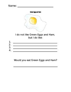 I do not like Green Eggs and Ham
