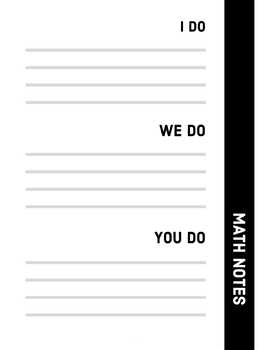 I do, we do, you do Notes Template