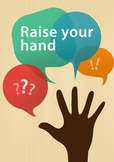 """""""Raise your hand"""" Class Rule Poster for ESL students"""