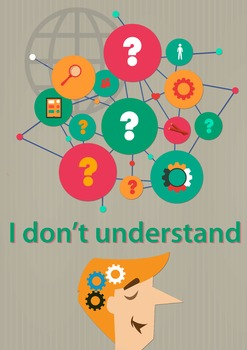 """""""I don't understand"""" Key Phrase Poster for ESL students"""