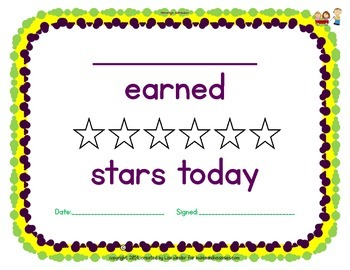 I earned stars today!