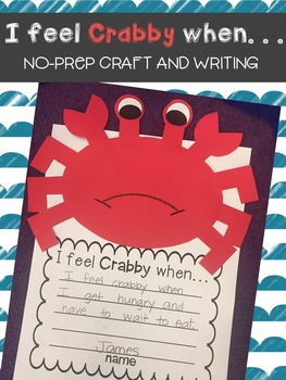 I feel Crabby when~Crab & Writing Craft~NO-PREP