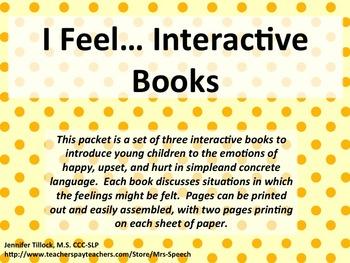 I feel... Interactive Books