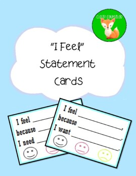 """""""I feel"""" Statement Cards"""