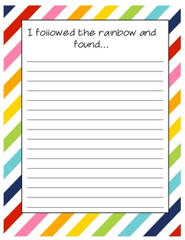 I followed the rainbow ~Saint Patrick's Day Creative Writing