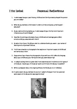 I for Isobel AMY WITTING Teacher Text Guide and Worksheets