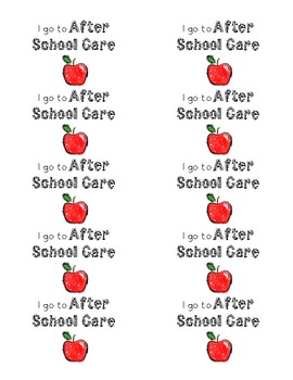 I go to After School Care labels