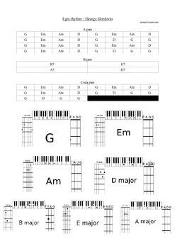 I got rhythm - George Gershwin - Lead-sheet for bass, guit