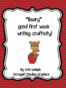 "I had a ""Beary"" Good Week Writing Craftivity"