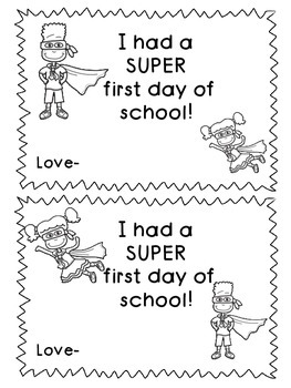 I had a SUPER first day of school certificate