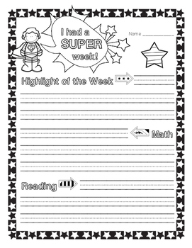 Superhero Newsletter for Students to Create
