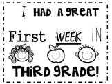 I had a great first week (Can be Edited) (printable, Certi