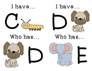 """I have """"A""""...who has """"B"""""""