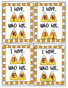 I have Who Has Candy Corn ABC's