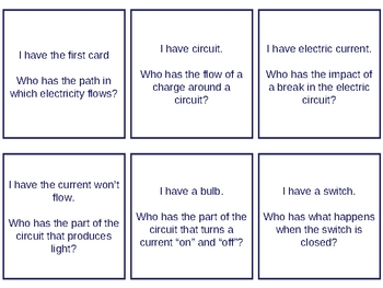I have, Who Has - Electricity and Magnetism flashcards