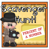 Finding the Percent of a Number Scavenger Hunt