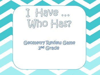 I have, Who Has? Geometry Vocabulary Review
